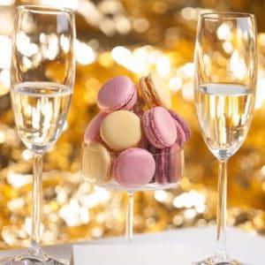 Champagnesmagning med macarons